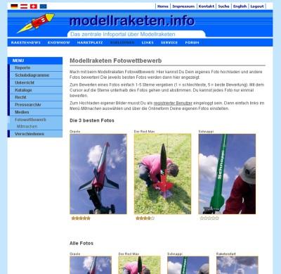 Modellraketen Fotowettbewerb