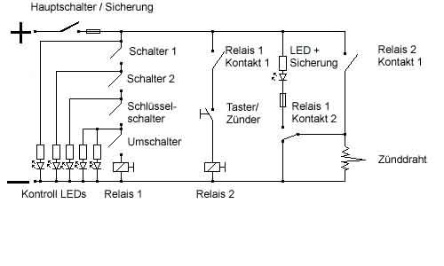 Modellraketen Forum: Zündgerät /Elektrozünder / Schaltplan