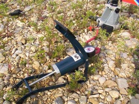 Fußpumpe für Wasserraketen