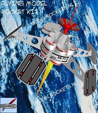 Der Satellite Killer Modellrakete