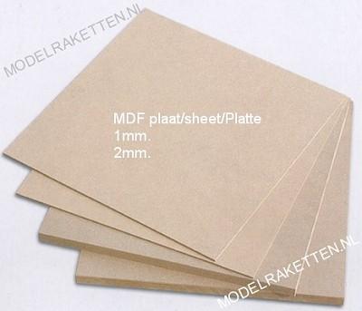 MDF Platte 1,0 oder 2,0*250*500mm