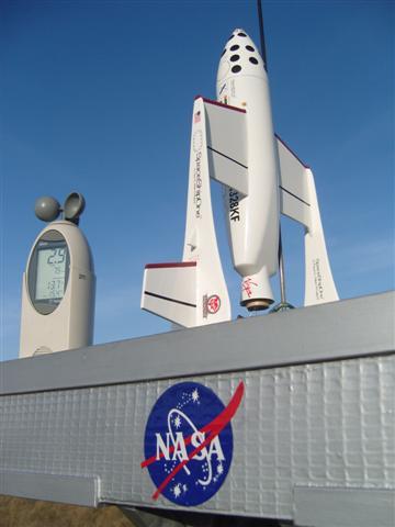 Spaceship 1 vor dem Start