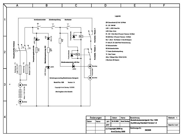 Modellraketenstargerät Roc 1205 Standard
