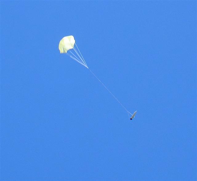 Kamerkapsel bei der Landung